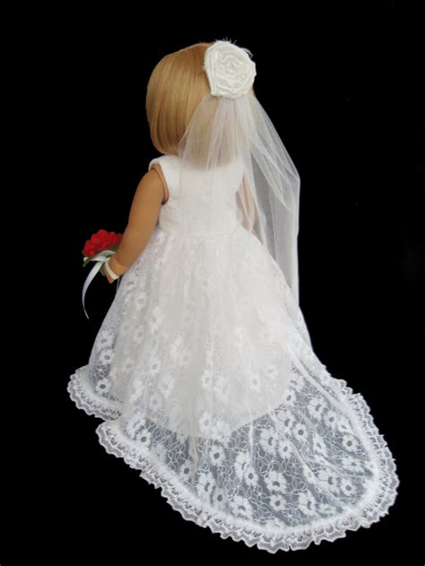 Wedding Clothes by American Doll Clothes Traditional Wedding Gown Dress