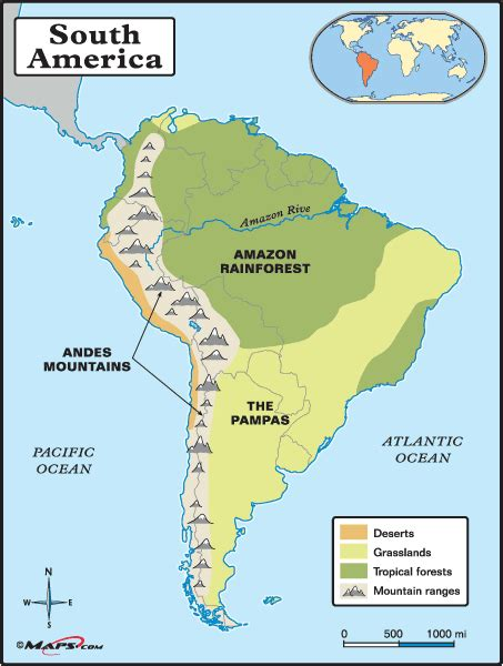 south america map with mountains physical map of south america detailed showing the