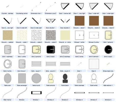 Symbols Used In Floor Plans | architecture buildings and floor plan symbols included