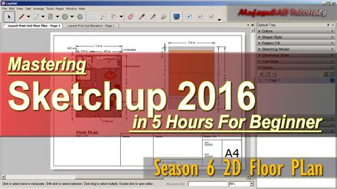 Sketchup 2016 Tutorial Beginner | sketchup 2016 2d floor plan tutorial for beginner course