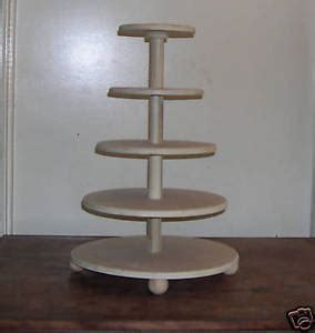 new wood 6 tier round wedding cupcake stand cake stand | ebay