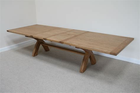 4m 8 seater square oak table now replaced by a 130cm