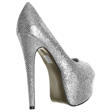 shoekandi peep toe sparkly glitter stiletto concealed