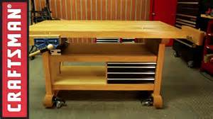 how to build a workbench for your garage craftsman youtube