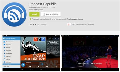 podcast for android 5 best podcast apps for android drippler apps