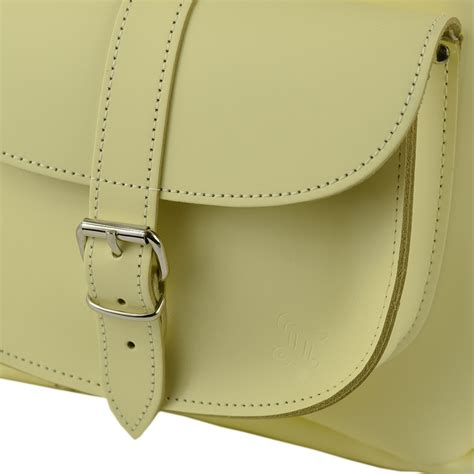 light yellow leather butter milk pale yellow leather backpack