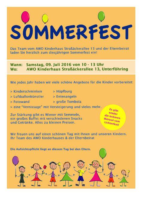 Muster Einladung Sommerfest Einladung Sommerfest Kindergarten Animefc Info