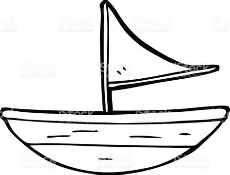 boat drawing colour drawn sailboat cartoon pencil and in color drawn
