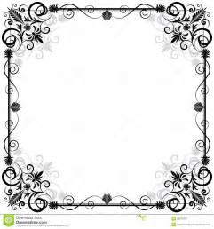 Ornate Cornice Floral Vector Frame Royalty Free Stock Photography Image