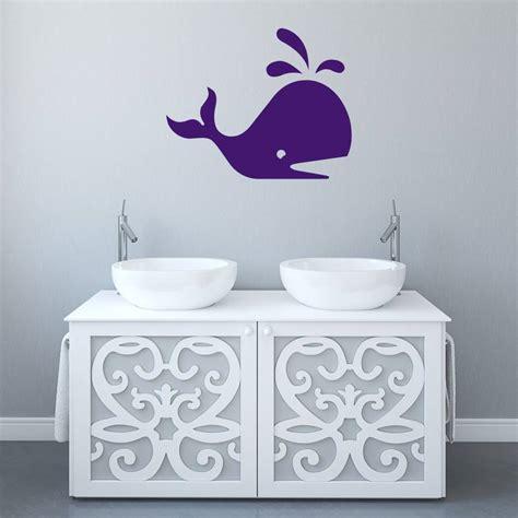 whale bathroom vinyl wall sticker by mirrorin