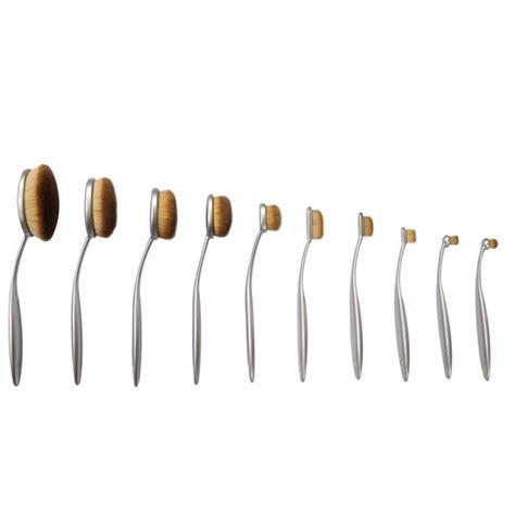 Oval Blending Brush Set 10 Free Dompet 10 silver oval brush set my make up brush set