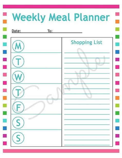 printable meal planning menu get dinner on the table with way less hassle 25 free