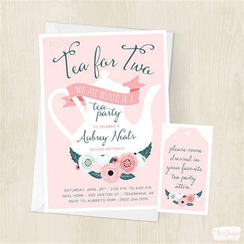 little girl printable birthday invitations tea for two birthday invitation little girls tea party