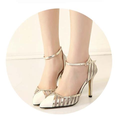 ankle wrap high heels fashion noble white ankle wrap pointed toe high heels sws20313