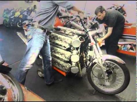 Kawasaki 2 Zylinder Motorrad by 48 Cylinder Kawasaki Motorcycle Youtube
