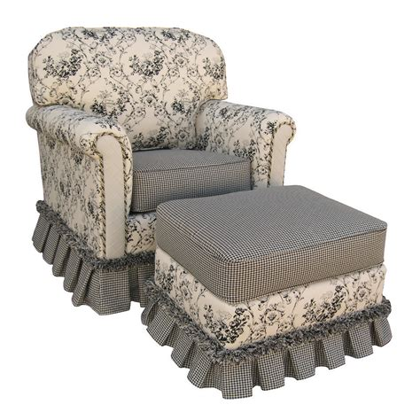 Black Glider Rocker With Ottoman Song Black Toile Continental Rocker Glider With Ottoman Atg Stores