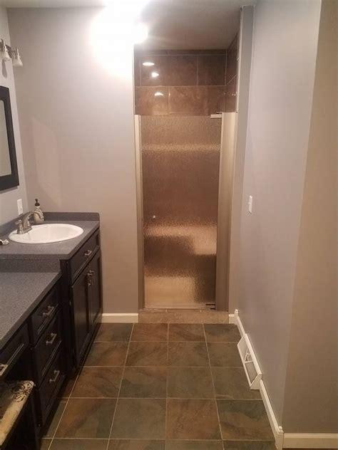 Work Bathroom by Finished Basement Trim Railing Bathroom Work