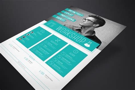 design flyer indesign corporate flyer template workshop stockindesign