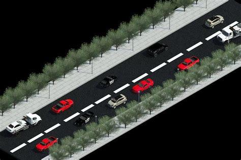 revit road tutorial road with cars autodesk revit 3d cad model grabcad