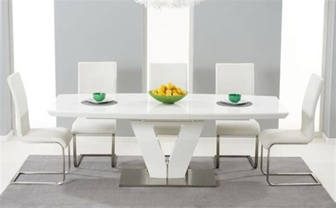 Chic Dining Rooms by High Gloss Dining Table Sets Great Furniture Trading