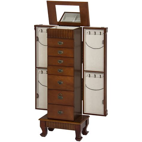 jewelry chest armoire jewelry armoires mirrored jewelry armoires sears