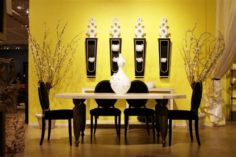 room decor large western wall for a inside wonderful luxurious dining room with yellow wall color showcasing