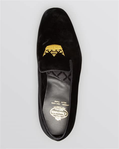 church s slippers church s sovereign slippers in black for lyst
