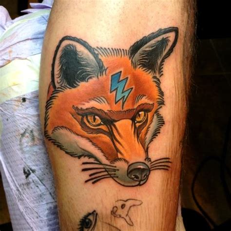 traditional fox tattoo neo traditional animal