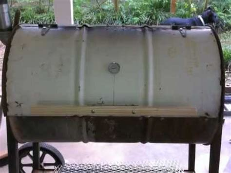 grill from 55 gal drum / no welding youtube