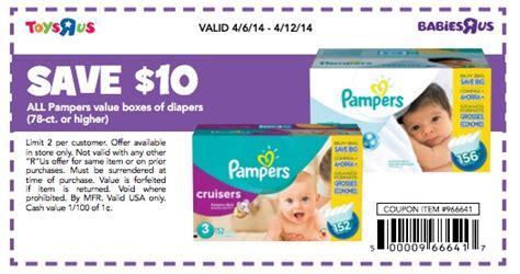 easy printable diaper coupons babies quot r quot us coupon 10 off pers diapers stackable