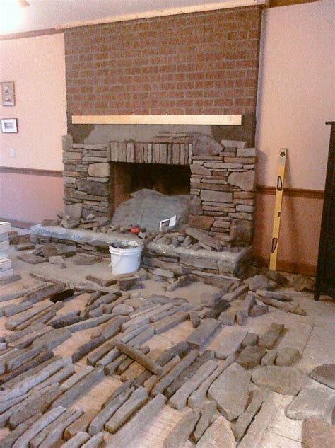 How To Lay Brick Fireplace by Hometalk Manufactured Veneer That I Installed In