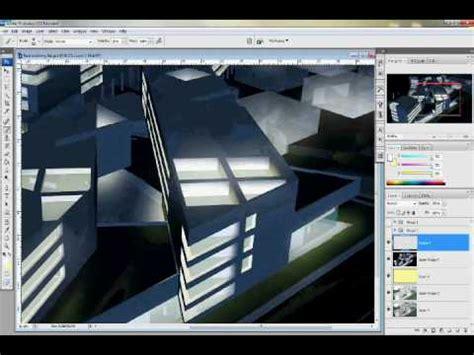 adobe photoshop rendering tutorial sketchup night rendering tutorial using photoshop youtube