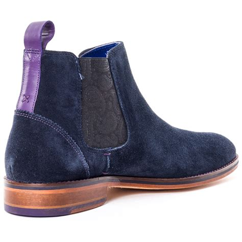 ted baker camroon 2 mens boots in blue