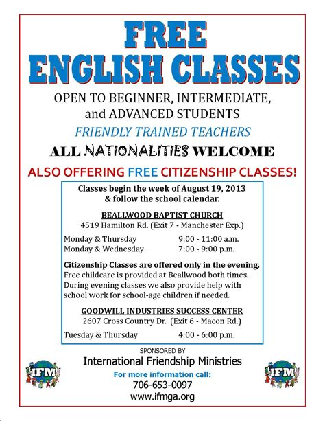 spanish english classes spanish classes flyer images