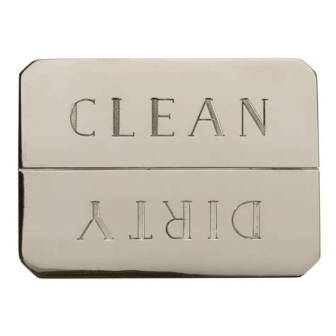 brass and nickel decor clean dirty dishwasher magnet in nickel plated brass