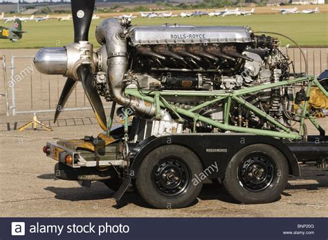 Rolls Royce Merlin 20 Piston Engine Stock Photo Royalty