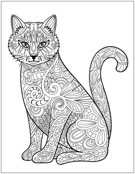 cat mandala coloring page 627 best images about adult colouring cats dogs