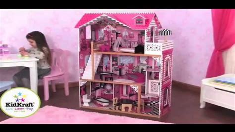 amelias doll house kidkraft amelia dollhouse w furniture 65093 youtube
