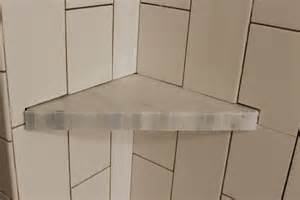 Tiling A Shower Wall Corner by How To Install A Tile Shower Corner Shelf