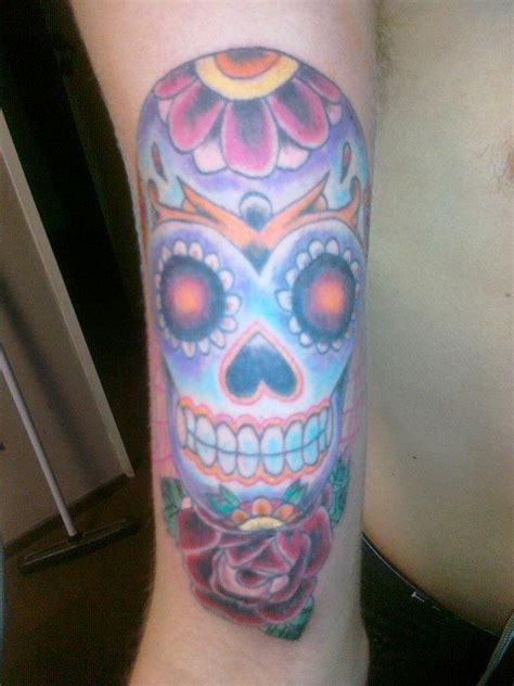 candy shop tattoo skull by fjerdn on deviantart