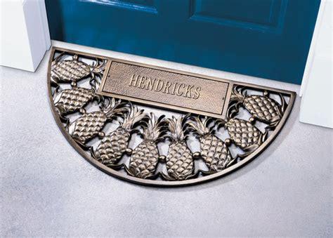 Tropical Outdoor Doormats by Bronze Personalized Pineapple Doormat