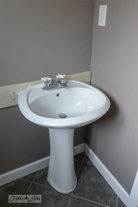 installing a pedestal sink how to install a pedestal sink without wall studsfunky