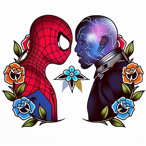 tattoo tattoos marvel spiderman comics tattooflash