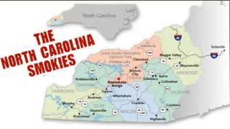 western carolina map of cities and towns map