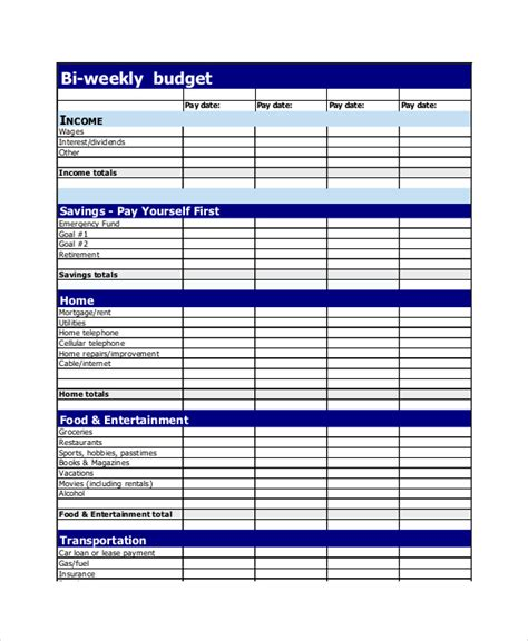 budget planner 12 free excel pdf documents