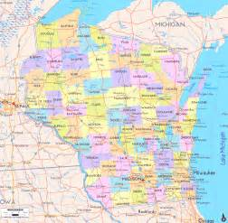 State Map Of Wisconsin by Map Of Wisconsin Cities Road Map Counties Wisconsin
