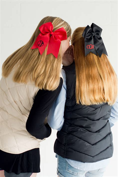 back to school hairstyles with bows personalized preppy oversized hair bows