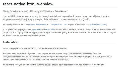 react native webview tutorial display html using a uiwebview in react native