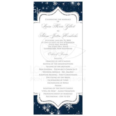 Program Cards Wedding