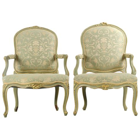 Antique Armchair Styles by Pair Of Louis Xv Style Pegged Antique Fauteuil